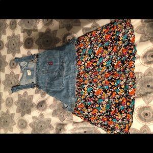 Ralph Lauren dress overalls in flower print